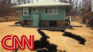 Giant cracks threaten to swallow home