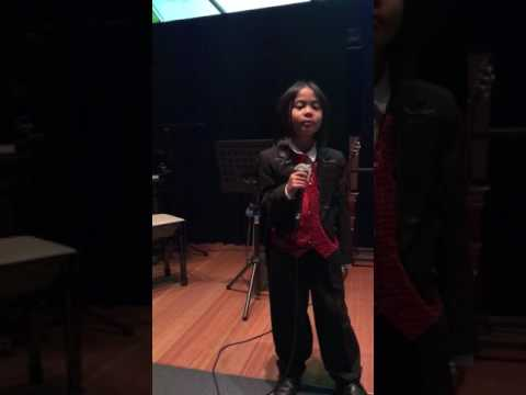 6 year old Wayne Collin performed the song BEN at Perth Library Theatre