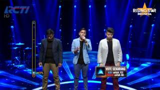 "Bertiga ""Swear It Again"" Westlife - Rising Star Indonesia Live Audition 6"