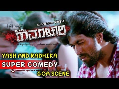 Yash Movies | Yash And Radhika Super Love Kannada Scenes | Mr And Mrs Ramachari