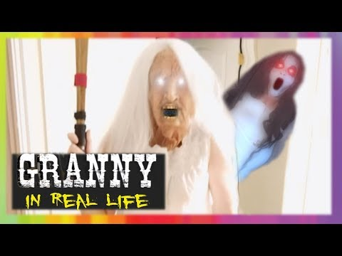 Granny Horror Game In Real Life With Slendrina Youtube