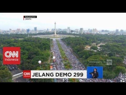 Aksi Demo 299, Ribuan Petugas Gabungan TNI & Polri Berjaga