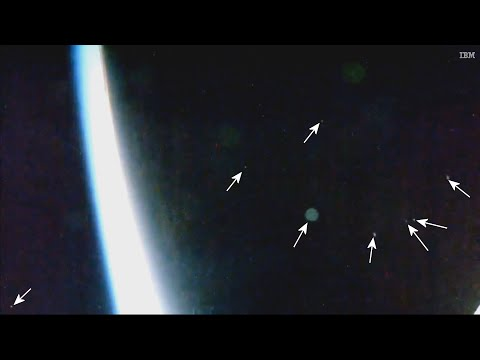 What is That? UFO Fleet Flies Over ISS at Incredible Speed?