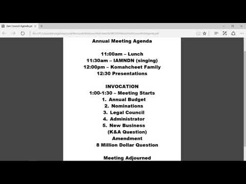 Comanche Nation General Council Meeting 2017