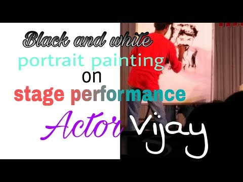 Actor Vijay Painting on stage(Mersal)/Sri Ramakrishna engineering college