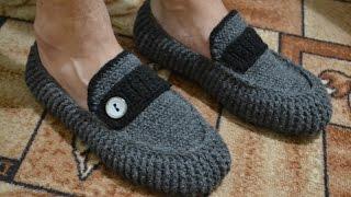 """""""Мужские мокасины"""" на войлочной подошве (Men's moccasins on felt soles)"""