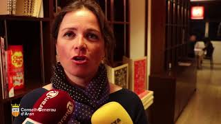 Era conselhèra de Torisme, Ana Díaz, presente era memòria de Torisme Val d'Aran 2017