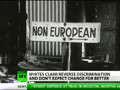 Risultati immagini per WHITE SOUTH AFRICA DISCRIMINATION
