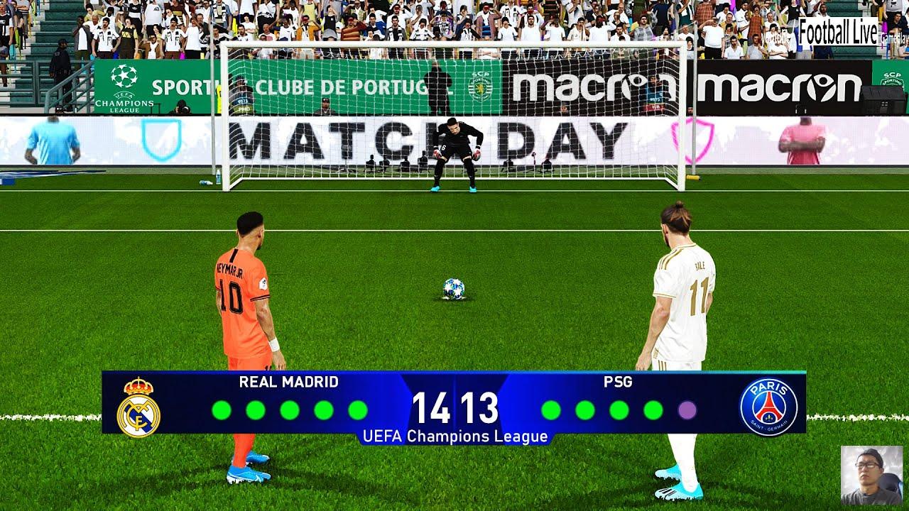 Pes 2020 Real Madrid Vs Psg Penalty Shootout Uefa Champions