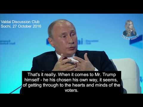 America is tired of the Elites - Putin