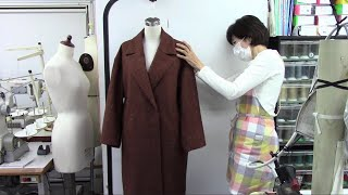 How to sew a Double Breasted Wool Coat - No lining, Bias binding in All seam allowance