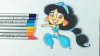 Drawing Princess Jasmine - Disney