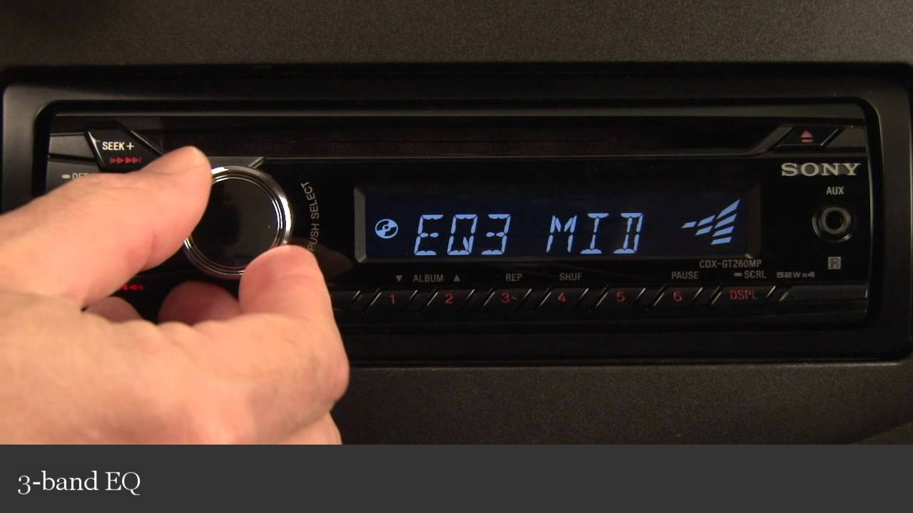 sony cdx gt260mp cd receiver display and controls demo crutchfield video youtube [ 1280 x 720 Pixel ]