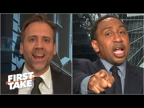 'We don't wanna hear that now!' - Stephen A. tells Max to stick to his 'cliff theory' | First Take