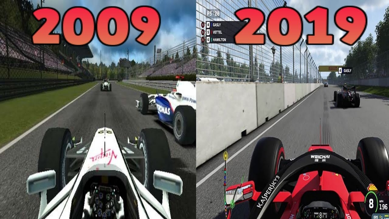 Graphical Evolution Of Codemasters F1 2009 2019 Youtube