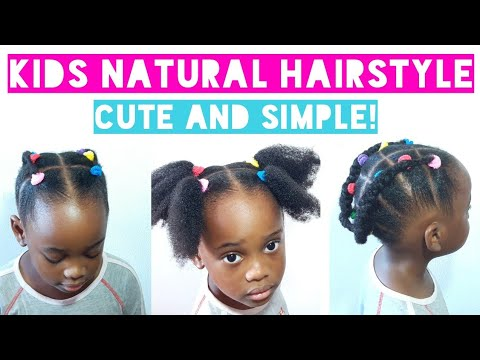 Kids Back To School Natural Hairstyle Very Simple Yet Beautiful