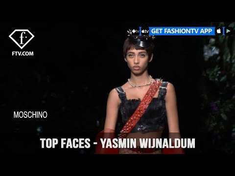 Yasmin Wijnaldum Top Faces Green-Eyed Dutch Beautiful Model   FashionTV   FTV