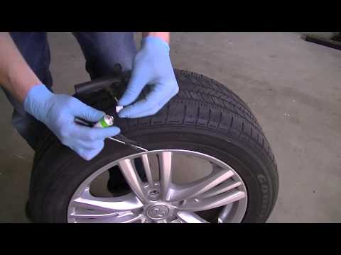 How To Repair A Nail Hole In A Tire Youtube