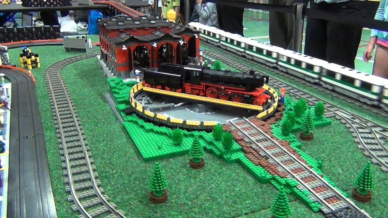 LEGO train and slot car crashes - Kaleen 2012 - YouTube