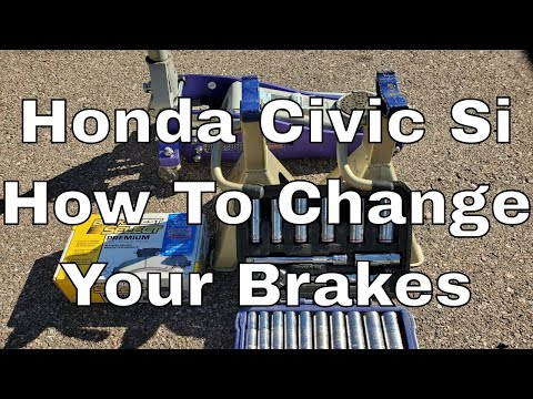 How To Change Brakes 2015 Honda Civic Si 9th Gen   Stop Squeaky Brakes