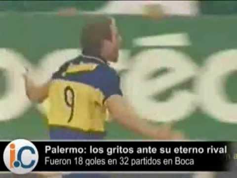 Palermo 18 Goles a River con la de Boca