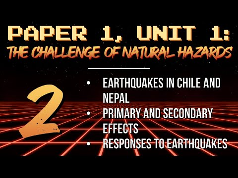 AQA GCSE Geography Revision NH2: Earthquake effects and responses (Chile and Nepal)