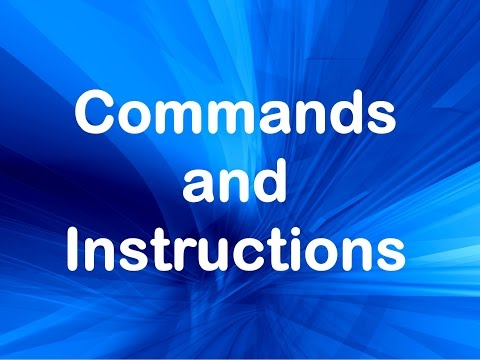 Commands and Instructions . Learn English