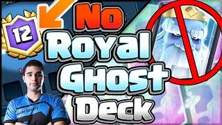 12 WINS WITHOUT ROYAL GHOST!! BEST DECK WITHOUT ROYALE GHOST!!! LIVE GAMEPLAY!!!!