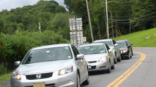 Heavy Traffic On The 42 Entering The Town Of Woodbourne, N.y. Sunday After Shabbas Nachmu 2011