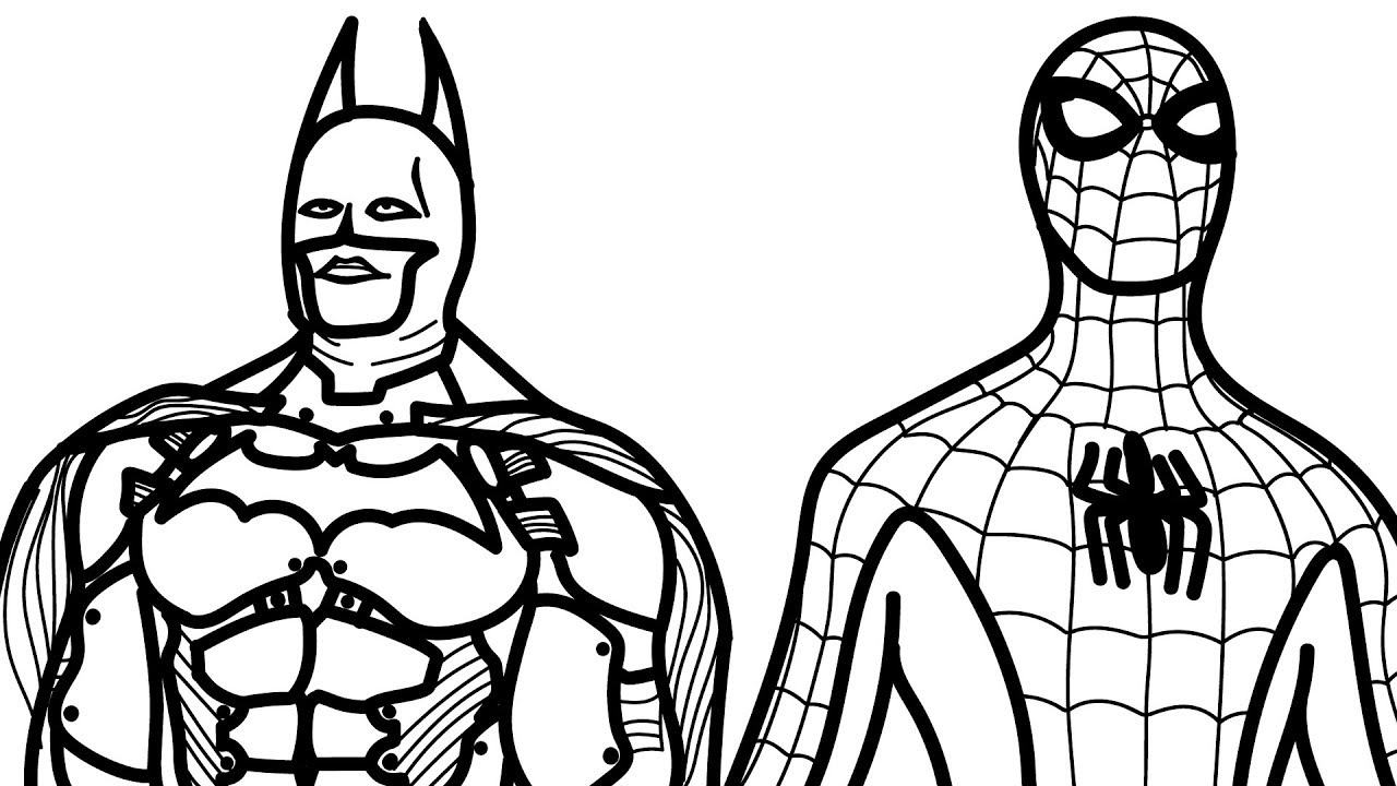 Spiderman And Batman Coloring Book Pages Kids Fun Art Activities Video For