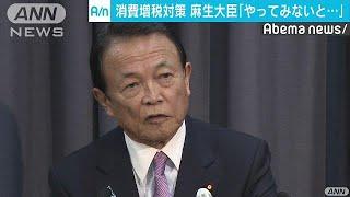 増税軽減策は「やってみないとわからん」 麻生大臣(18/11/27)
