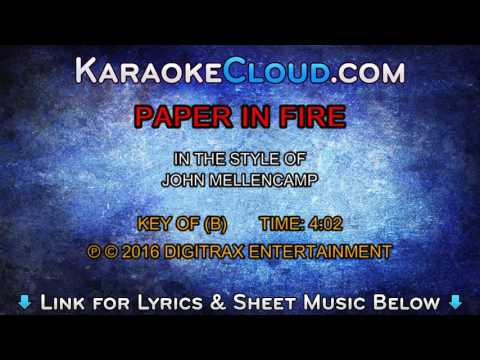 John Cougar Mellencamp - Paper In The Fire (Backing Track)