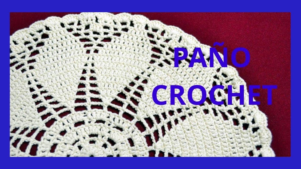 PAÑO Redondo en tejido #crochet o ganchillo tutorial paso a paso ...