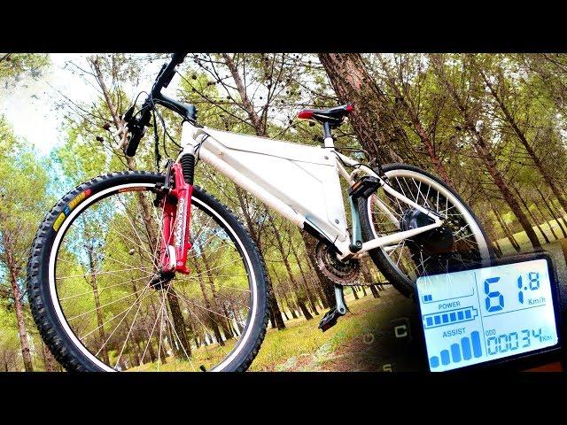 BICICLETA ELECTRICA CASERA +60Km/h y 100km ! Montar un Kit de Motor Electrico en tu Bici