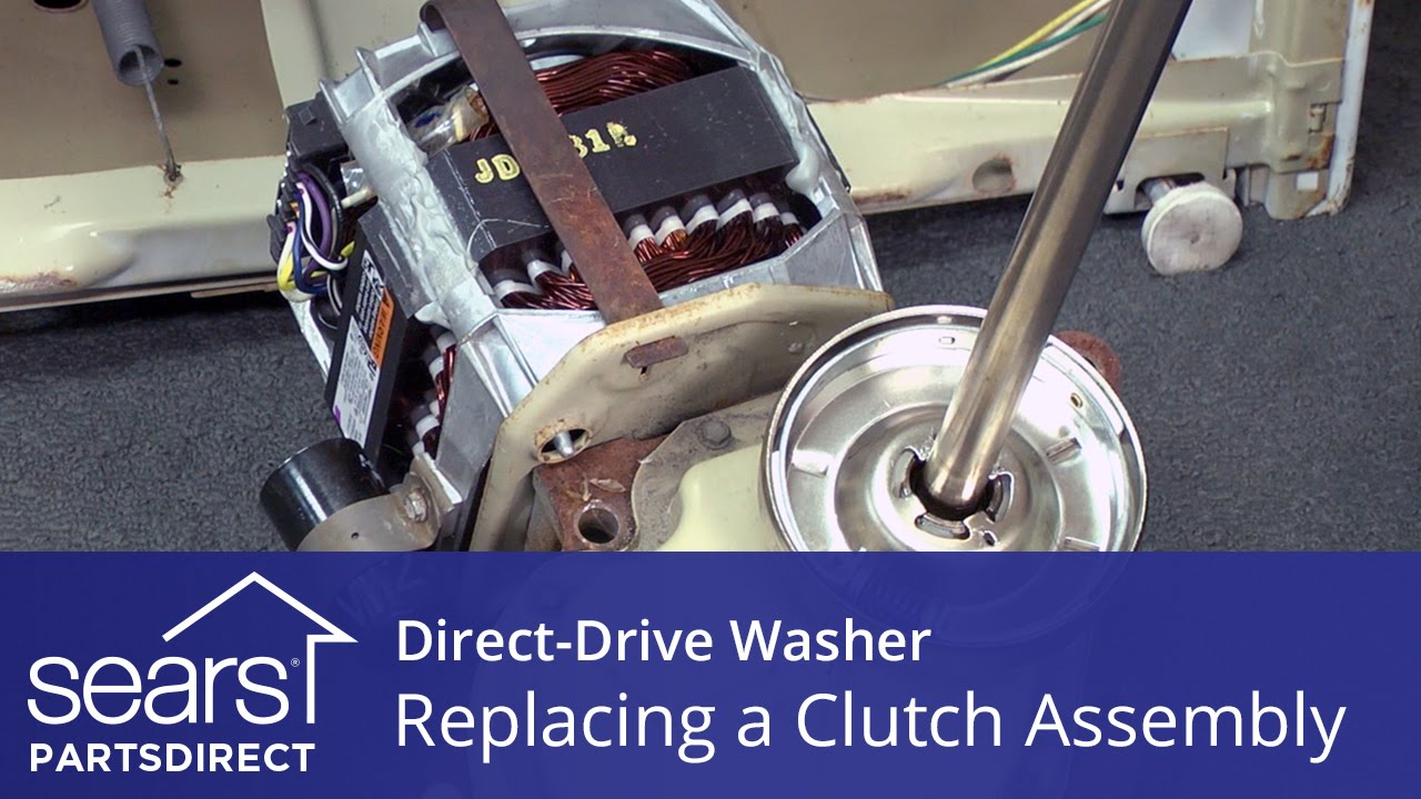 How To Replace A Direct Drive Washer Clutch Assembly Kenmore Wiring Diagram Also Whirlpool Washing Machine Motor And Maytag