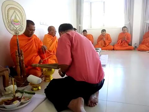 Monks from Wat Chalong Phuket Thailand singing