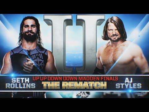 MADDEN 18 - SETH ROLLINS vs. AJ STYLES II: THE REMATCH