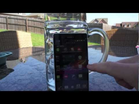Sony Xperia Z Water Proof Test