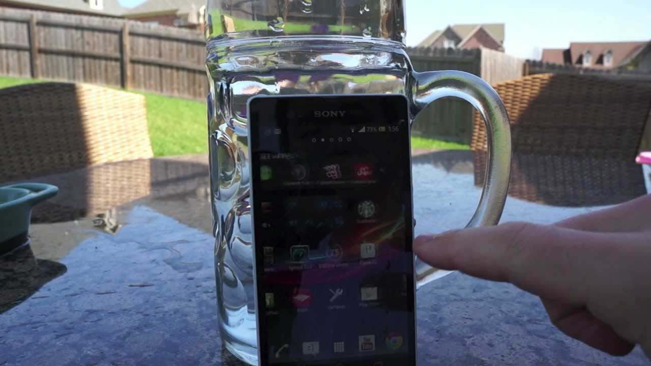 newest cd2a9 1213d Sony Xperia Z Water Proof Test