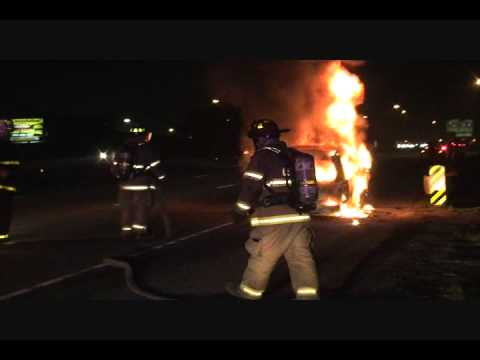 Everything That Could Explode Did Explode At This Car Fire In Lake Station Indiana.