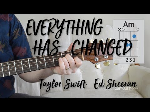 'Everything Has Changed' Guitar Tutorial   Easy Chords & Strumming