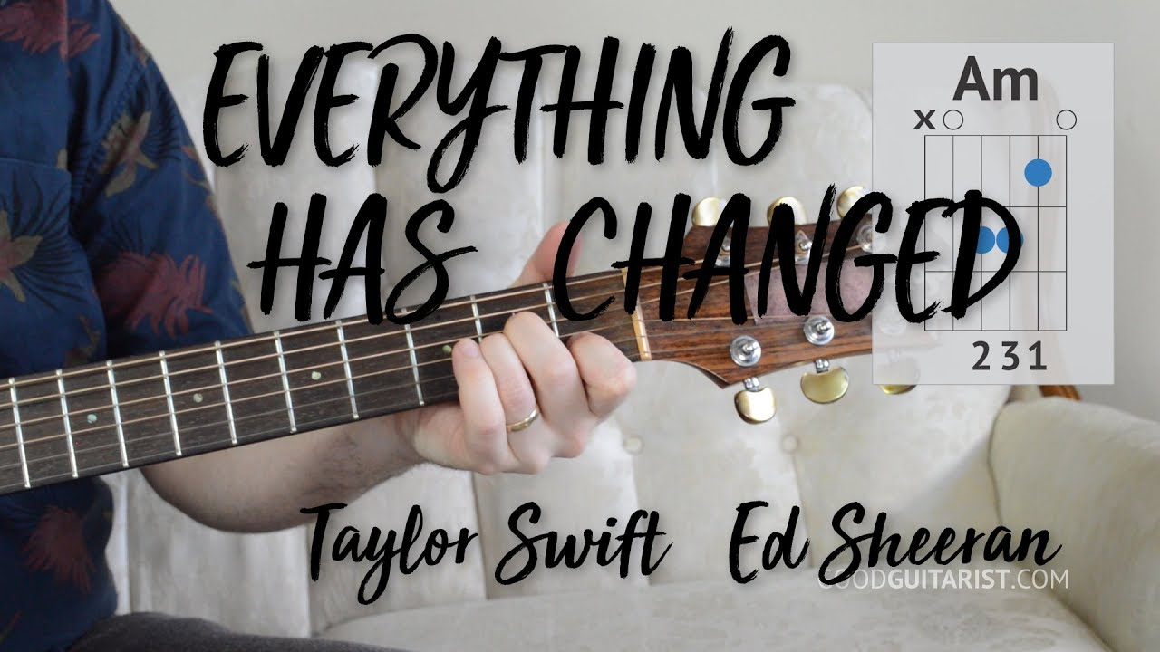 Everything Has Changed Guitar Tutorial Easy Chords Strumming