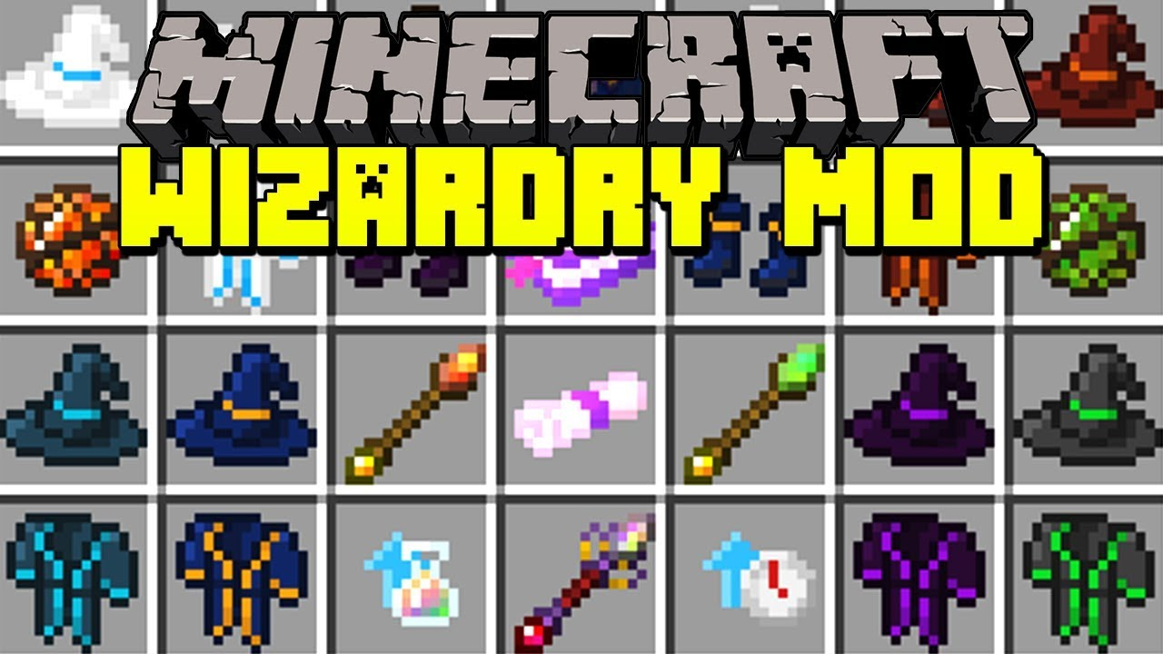 Minecraft WIZARDRY MOD! | BECOME A WIZARD, USE MAGIC SPELLS, & MORE! |  Modded Mini-Game