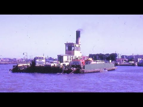 Williamstown 'Short Road' Vehicle Ferry Yarra River Melbourne 1963