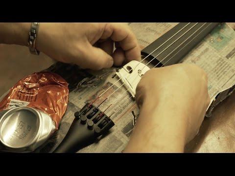Wie aus Abfall Musik wird. Making music from rubbish.