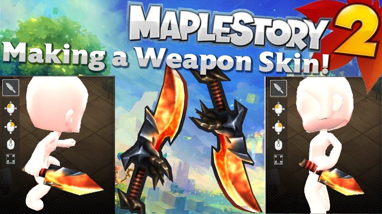 Maplestory 2 - Making a Skin! UGC (Thief Daggers)