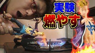 【完全再現】ワンピース!不死鳥のマルコのフィギュアを燃やして青い炎デ...