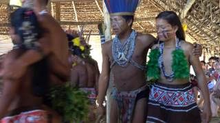 Amazon Tribe Dancing To Give Thanks For Food And Life, Pt 2
