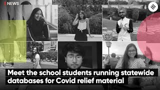 Meet the school students running statewide databases and a 24×7 Instagram helpline for Covid relief