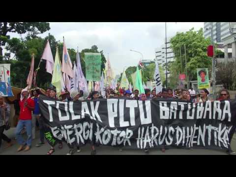 Thousands Rally in Jakarta Against Proposed Power Plant